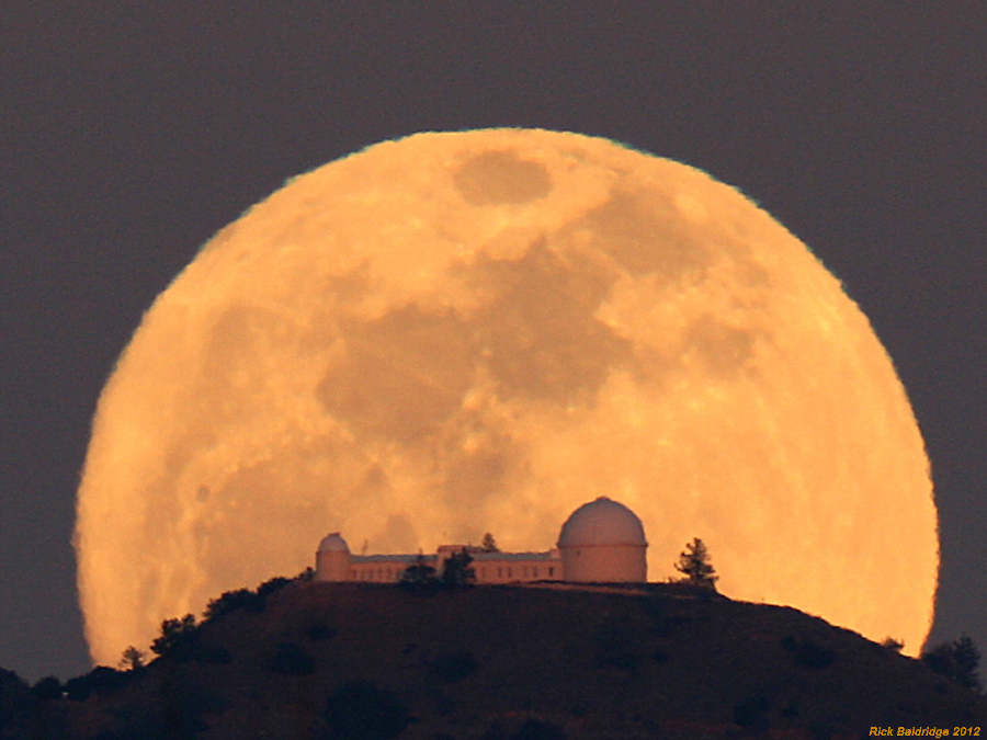 Lick Observatory Moonrise by Rick Baldridge