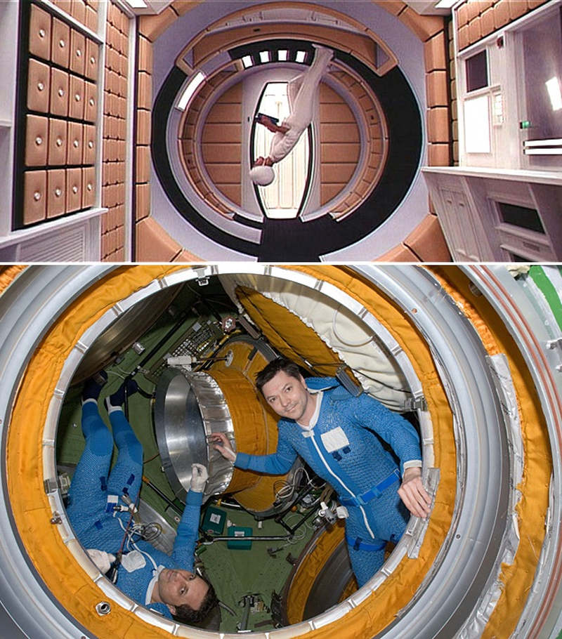 Moving around in weightlessness, 2001 and 2012