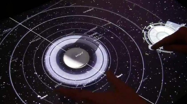 NUIverse multitouch application for the Samsung SUR40 for Microsoft Surface