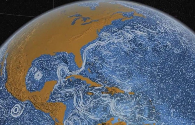 Perpetual Ocean- visualization of ocean surface currents