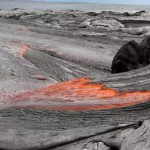 Rivers of molten lava (video)