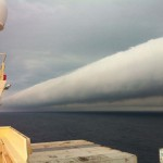 Roll cloud off coast of Brazil