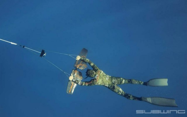 Subwing the new underwater sport