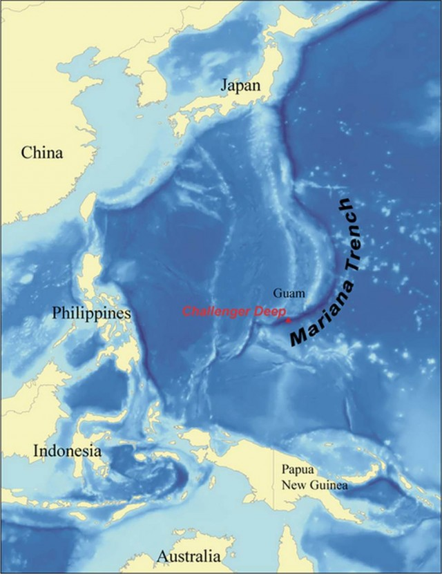 Mariana Trench is the deepest part in the Pacific Ocean