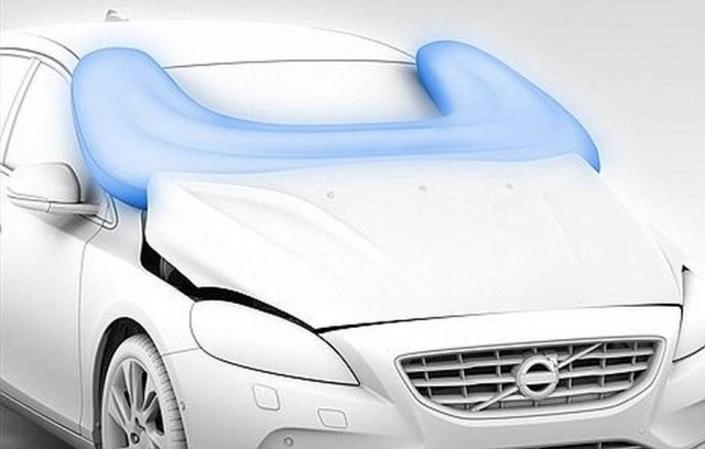 Volvo protecting pedestrians with airbags