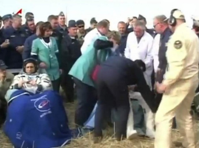 Expedition 30 crew returned to Earth