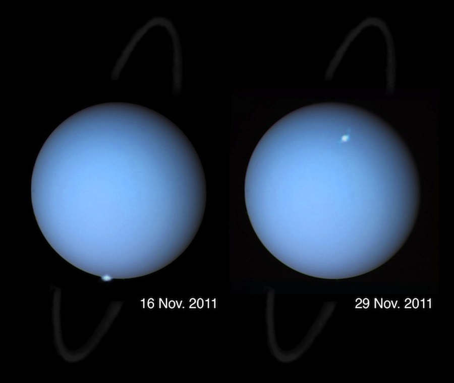 Auroras seen on Uranus for first time