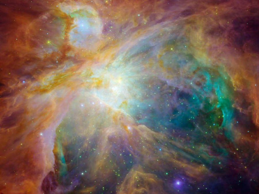 Orion nebula from Spitzer Space Telescope