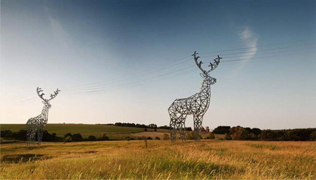 Deer-Shaped Pylons