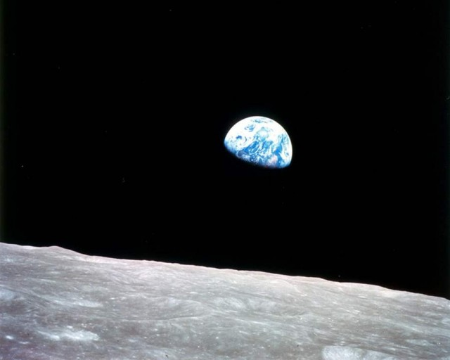 The first color photo of Earth taken from orbit around the Moon