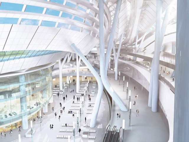 Express Rail Link West Kowloon Terminus by Aedas (1)
