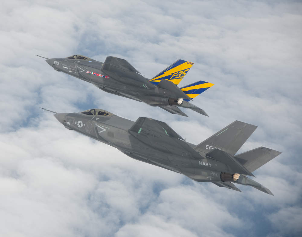 F-35 carrier variant first formation flight