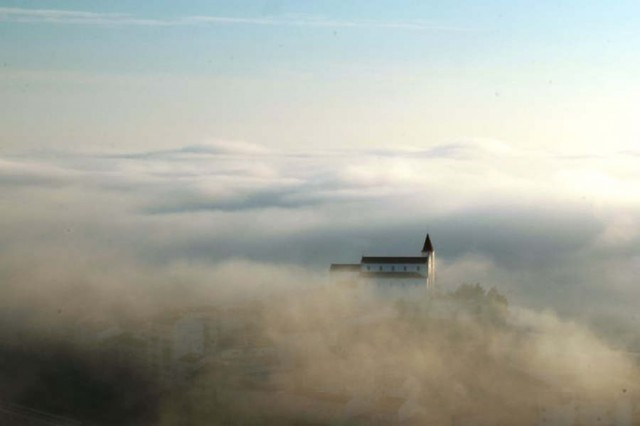 Fog over Tagus river, Portugal