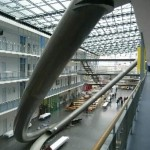Huge slide inside the TUM university (video)