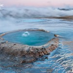 Iceland's resilient beauty- hot springs in the plain