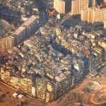 Kowloon Walled City- most densely populated area in the...