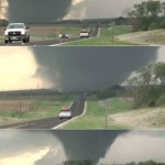 Massive tornado outbreak in the U.S. (video)