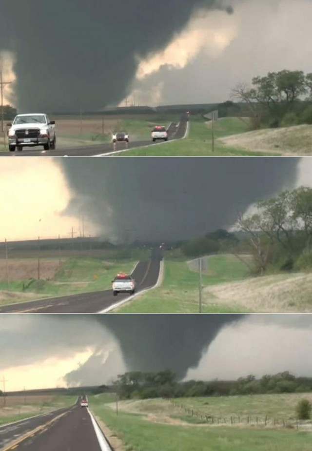 Massive tornado outbreak in the U.S.