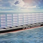 Next generation cargo ship uses wind energy