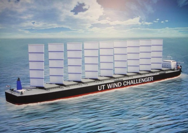 Next generation cargo ship by Wind Challenger Project