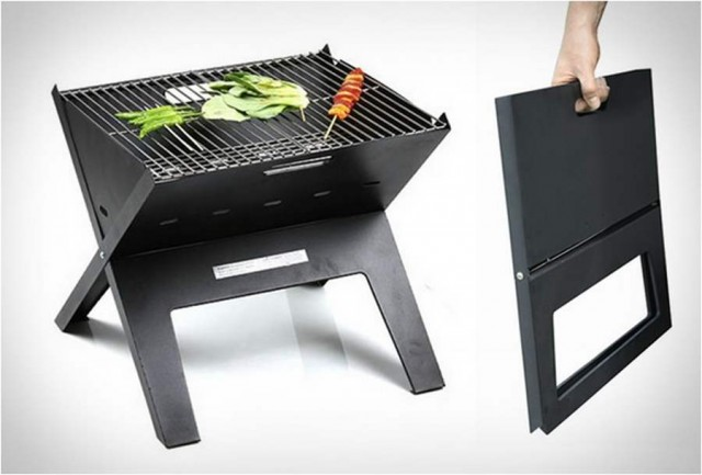 Notebook Grill is the perfect portable charcoal grill