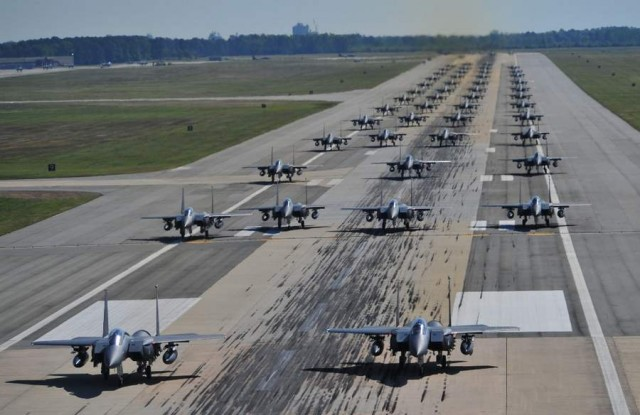 Seventy F-15E Strike Eagles ready for take off
