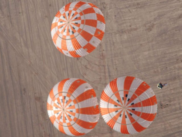Testing the Orion crew vehicle parachutes