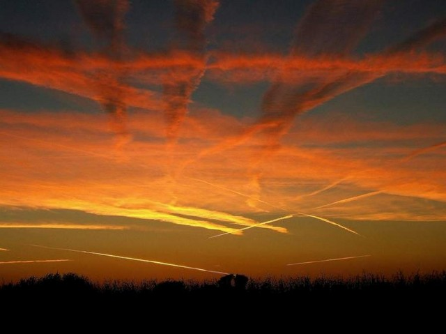 Twilight Contrails