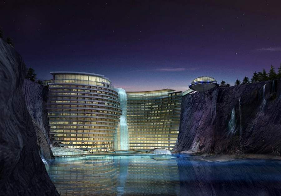 Underground five star resort in Shanghai