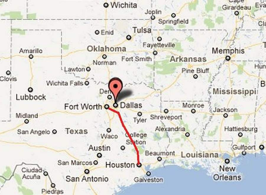 Billion Highspeed Train Proposed For Texas WordlessTech - Texas high speed rail map