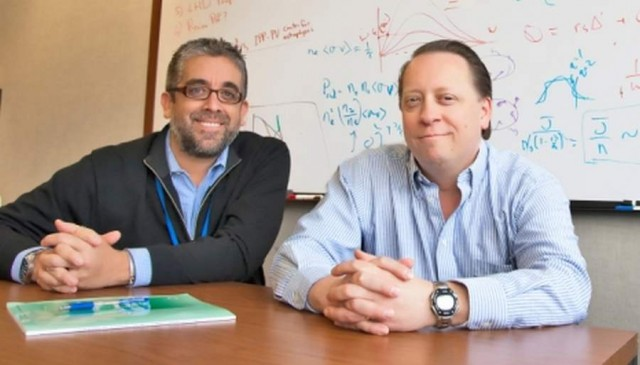 From left: physicists Luis Delgado-Aparicio and David Gates