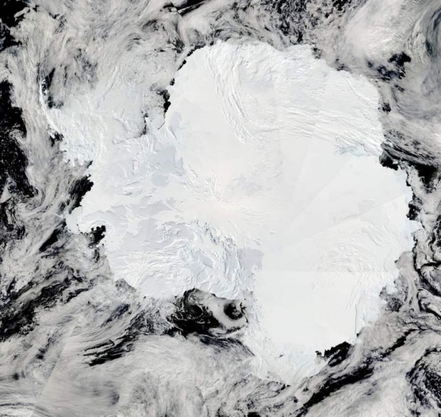 Amazing view of Antarctica from Aqua Satellite