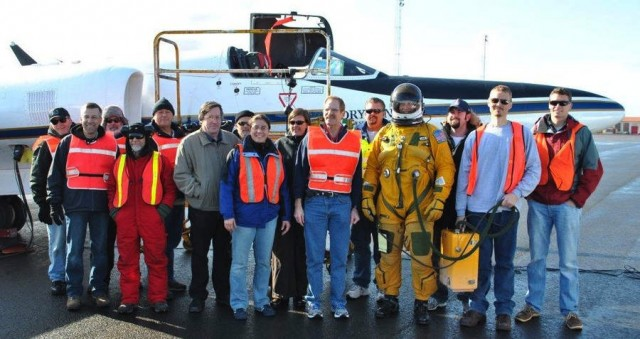 The flight and ground team that supported the MABEL laser altimeter validation flights