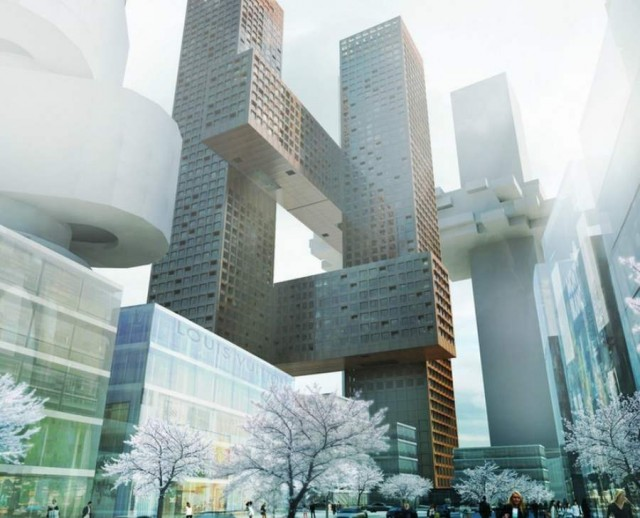 Cross Towers in Seoul by BIG (8)