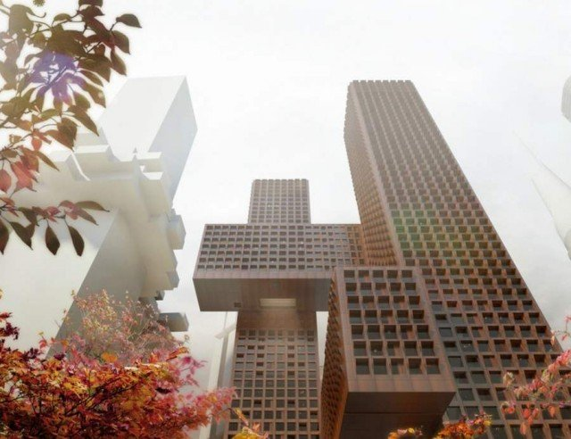 Cross Towers in Seoul by BIG (7)