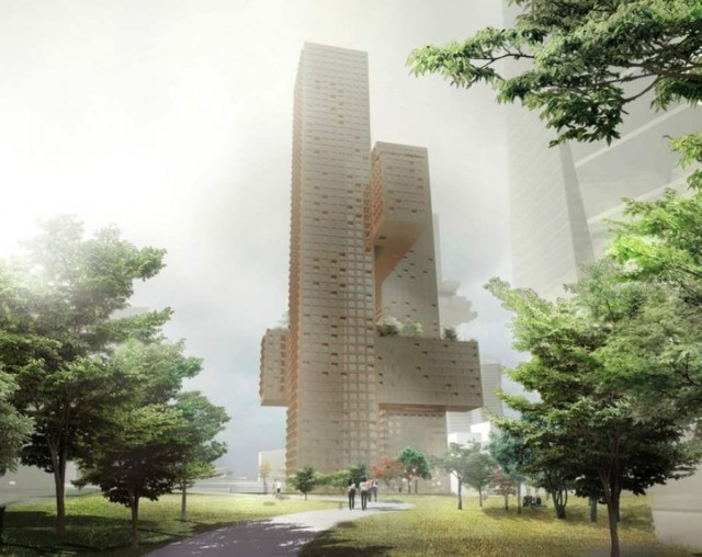 Cross Towers in Seoul by BIG (6)