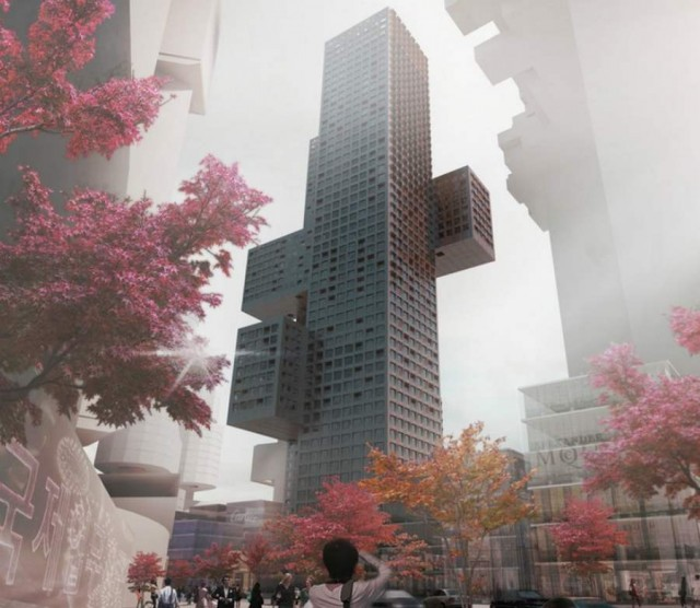Cross Towers in Seoul by BIG (2)