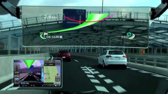 Cyber Navi augmented reality HUD by Pioneer