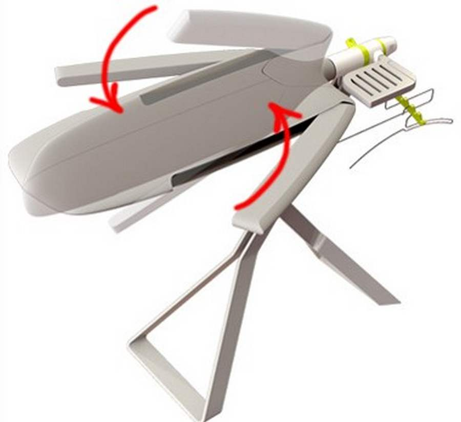 Ironing Table Designs : Board for easy ironing  wordlessTech