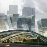 Express rail link West Kowloon terminus by Aedas