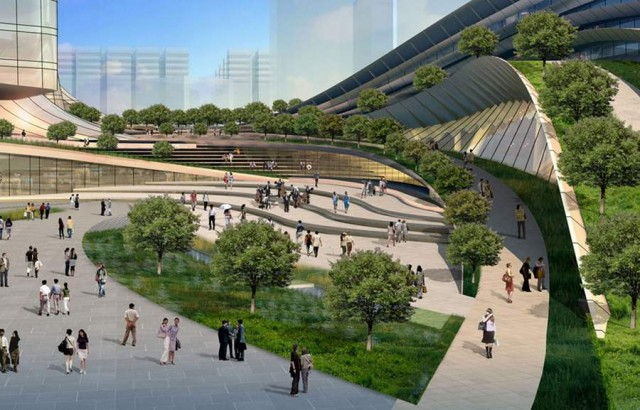 Express rail link West Kowloon terminus by Aedas (4)