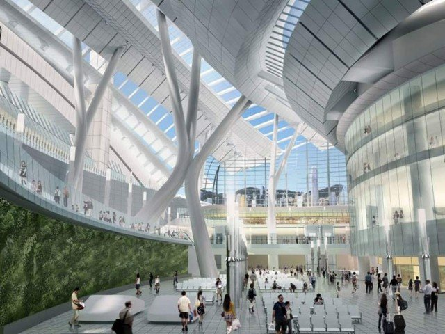 Express rail link West Kowloon terminus by Aedas (3)