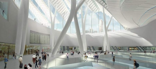 Express rail link West Kowloon terminus by Aedas (2)