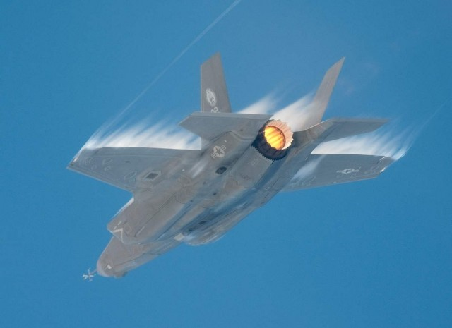F-35B in supersonic flight