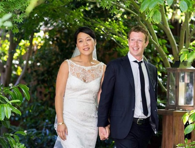 Facebook founder gets married