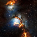 Glowing Dust in Orion