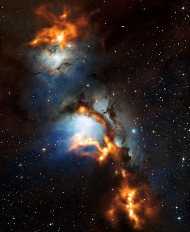 Nebula Messier 78 (NGC 2068) in Orion by APEX