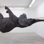 Gravity-Defying Elephant Sculpture