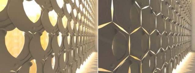 HEX curtain by Rael San Fratello Architects