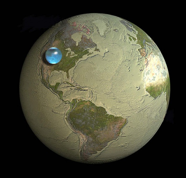 How much water is there on Earth